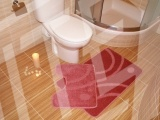 Koupelnová předložka STARORŮŽOVÁ